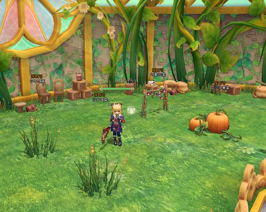 温室。栽培や料理はここで。