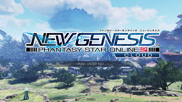 PSO2・NGSのタイトル画面。