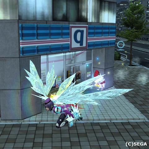 羽を生やして東京エリアを飛び回る。